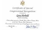 Congressional Recognition